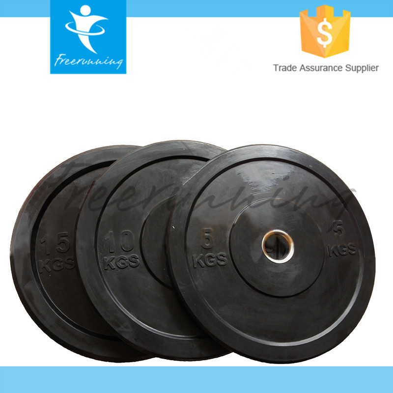 Professional Crossfit Barbell Black Bumper Plate