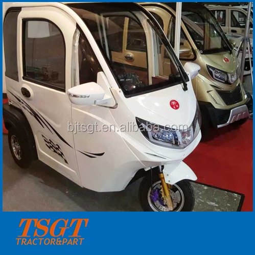 2016 newest electric three wheelers auto rickshaw tricycles with cool closed cabin for taxi and home use