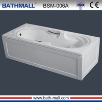 Plastic used bathtub with control panels for soaking
