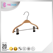 Plywood hanger with clips pants child hanger