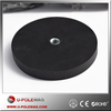 Rubber Coated Magnets/Rubber Covered Black Retaining Magnet with Internal Thread