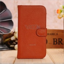 High End Cell Phone Genuine Leather Case with Folio Stand for Samsung Galaxy S4 i9500 P-SAMI9500CASE034