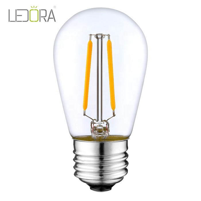 Equivalent Shatterproof dimmable S14 LED <strong>Bulb</strong> 1.5W Warm White Vintage Edison LED Filament <strong>Bulb</strong>