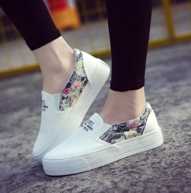 zm52857a latest design hot selling lady cheap flat feet canvas shoes