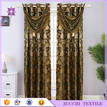 Hotsale Luxury Curtain Jacquard With Attached Valance