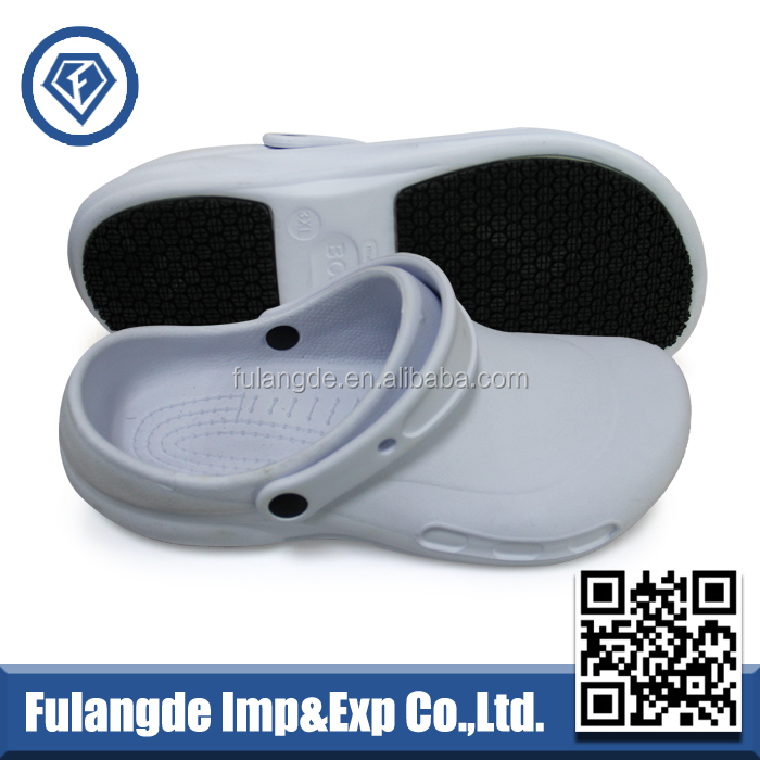 white clogs, kitchen chef clogs shoes, cleanroom safety clogs