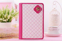 Hot selling book design tablet leather case universal flip cover zipper metal for IPad 2 3 4