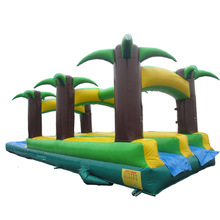 hot sale tropical palms tree inflatable slip n slide/ water slide/ waterslide for grils boys