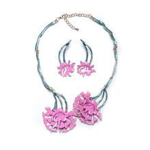 Wholesale Fashion Coloful Necklace Earrings Fashion Jewelry Set
