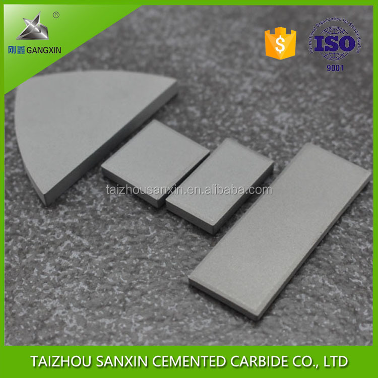 Customized YG15 tungsten carbide agriculture welding wear parts, carbide soil knife, carbide tool tips for soil plowing