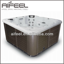 2016 hot sale fashionable indoor outdoor spa freestanding acrylic whirlpool massage 8 person hot tub