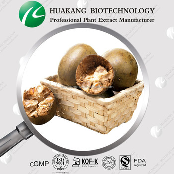 Natural Sweetener 10%~60% Mogroside V Fruit Powder Luo Han Guo Extract