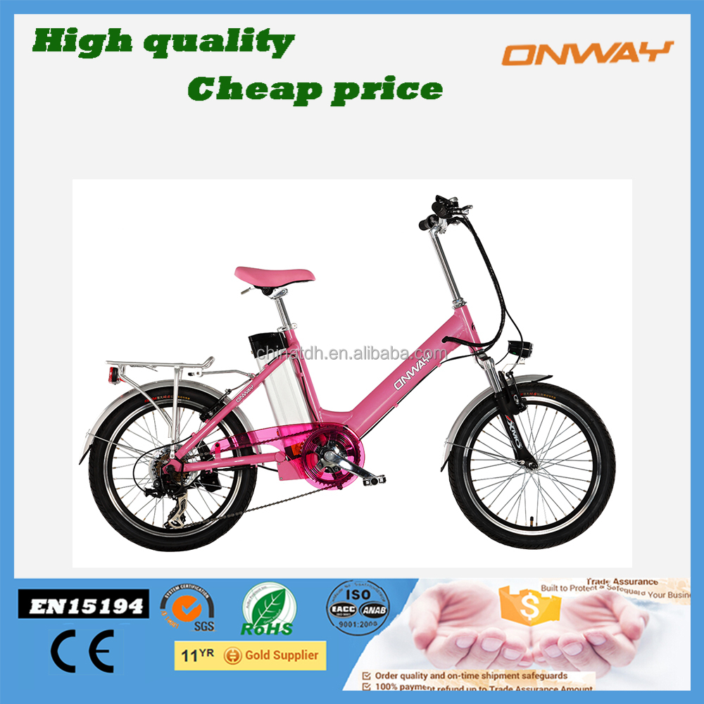 2016 top rated 20 inch small electric folding bikes with lithium battery
