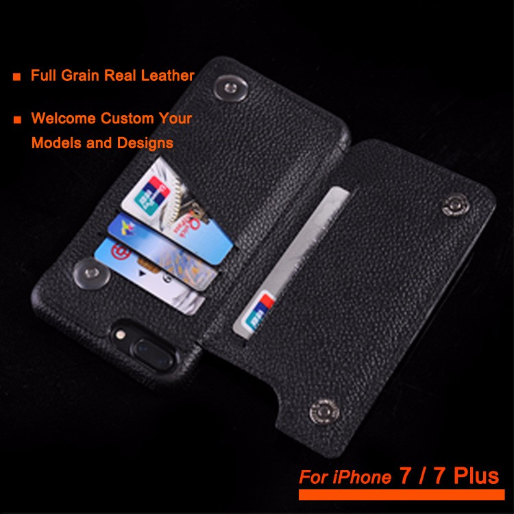 Wallet Card Cover Flip Premium Leather Case for iPhone 7 7 +