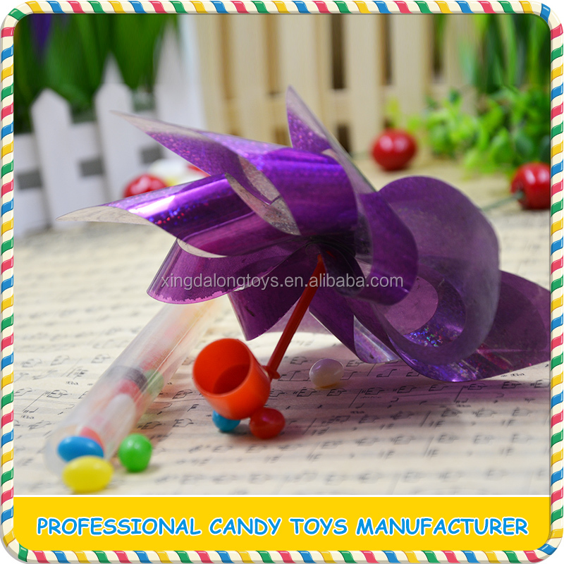 Commercial funny plastic windmill candy toy from China