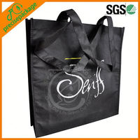 Black middle size non woven pp tote bag