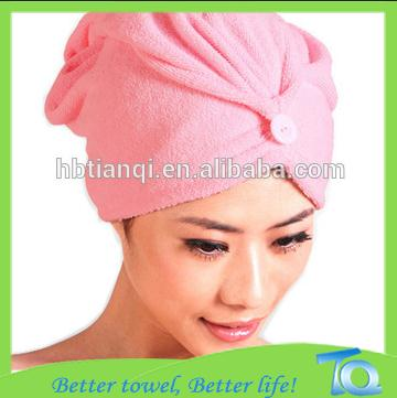 Factory price Absorbent Microfiber Hair Warp Quick Dry Towel Bath Shower Head Cap