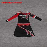 Open shoulder rhinestones star design hot charms sexy high school girls cheerleading uniforms