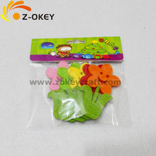 Lovely flower felt crafts stickers for kids playing wholesale