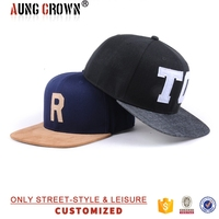 Headwear ball cap cheap custom flat brim snap back hats