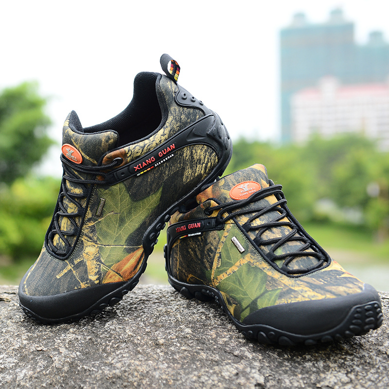 Camouflage large code male models women walking hiking shoes