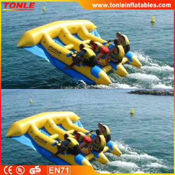 inflatable fly fish boat water toy/ inflatable banana boat tube games