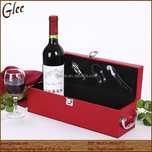 hot sale high quality single bottle leather wine carrier boxes for wine for sale