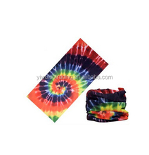 Sublimation printing bandana Tie dye Multi-purpose Seamless multifunctional yiwu bandana