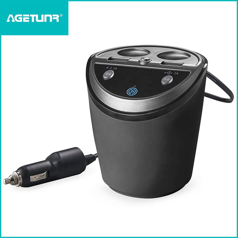 AGETUNR A18S Bluetooth V4.2 fm transmitter display car voltage,DC 12V-24V,read USB Disk in <strong>MP3</strong>/WMA/FLAC/WAV format