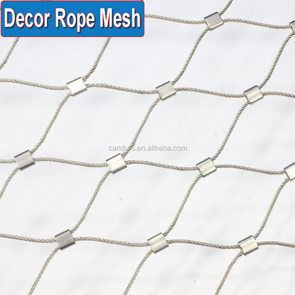 AISI 316 Decor Flexible Stainless Steel Cable Mesh Netting