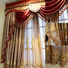2014 Fashion new design luxury window elegant valance curtain