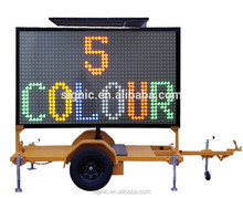 HOT SALE Solar Power Outdoor Programmable VMS Signs Mobile Trailer LED Display