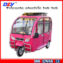 Three wheel passenger bajaj auto taxi tricycle with sunshade