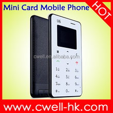 iCard U6 Ultra Thin Card Size GSM Quad Band Single SIM Card No Camera Bluetooth very small size mobile phone
