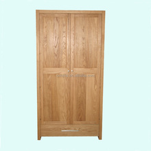 solid oak wood 2 door modern design bedroom furniture wardrobe