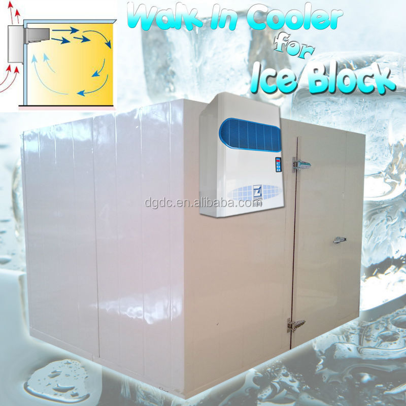 walk in cooler for ice block storage