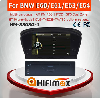 HIFIMAX 8'' WIN CE 6.0 Car DVD GPS For BMW 5 series E60 E61 E63 E64 2003-2010 Car DVD Player GPS Navigation System