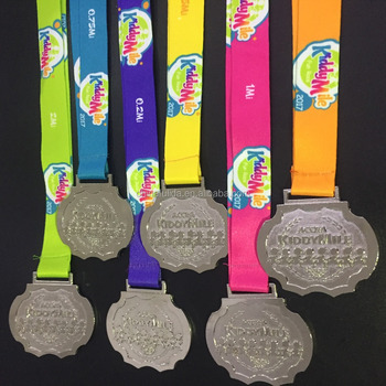 2017 Running Silver finishing Medals for kids event