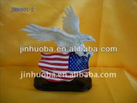 China manufacturer 2014 hot sale resin American eagle crafts & eagle statue