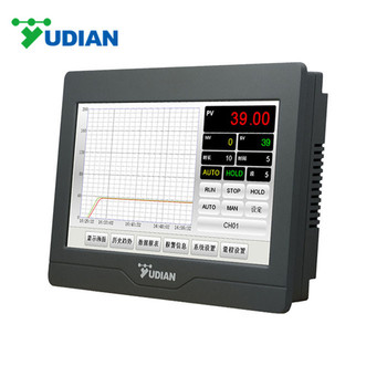 YUDIAN AI-37028 2 channel touch screen digital thermometer data logger ssr output