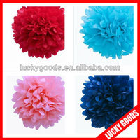pink tissue paper pompoms for christmas or festival decoration