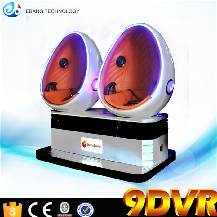 virtual reality simulator 9d vr cinema 3 dof electric platform 9d vr egg cinema Single/Double/Triple seats