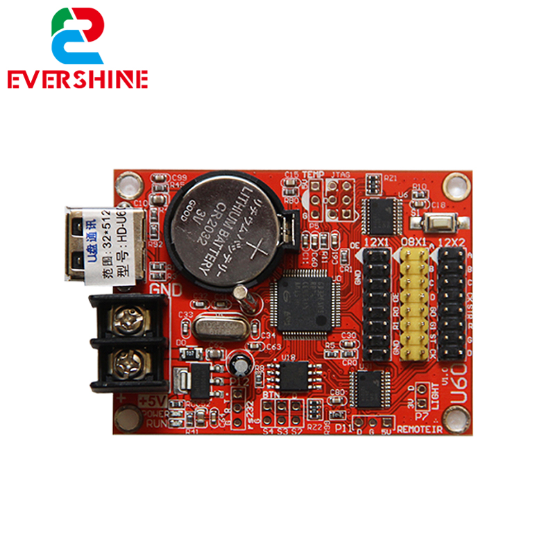 HD-U60 led display screen control card Single color and dual color <strong>U</strong>-disk controller