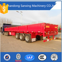 3 axle 40ft bulk cargo transport side door fence semi trailers