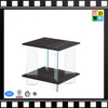 2016 Modern acrylic bed side table with wood shelf, Acrylic wood top Side Table