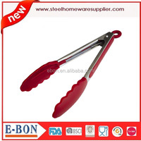 Silicone Kitchen Tongs 9-Inch Food Tong Stainless Steel Food Tongs with Silicone