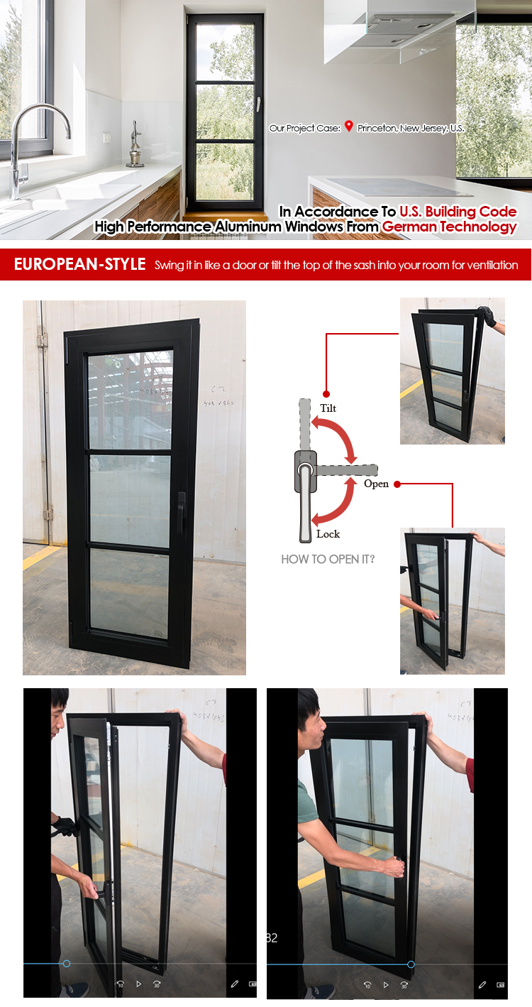 as2047 as1288 yy brand hot sale tilt and turn window factory