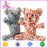 Creative Dog Toys Cotton Rope Bear Cat Handmade Knitted Pet Toy