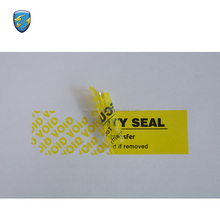 China supplier qc pass custom anti tamper stickers, open void stickers