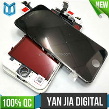 YJDT Mobile Phone Spare Parts For Iphone 6 LCD display+Touch Screen Digitizer+Home Button+Front Camera+Frame full Assembly